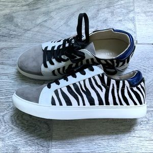 SALE Kenneth Cole Zebra Animal Print Kam Sneaker